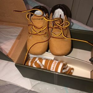 Baby soft bottom timberland boots